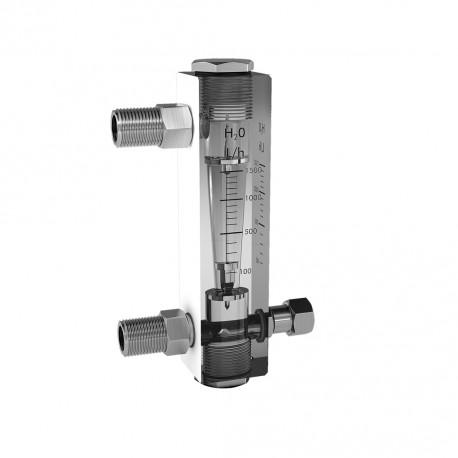Durchflussmesser aus Akrylat Model R-1/R